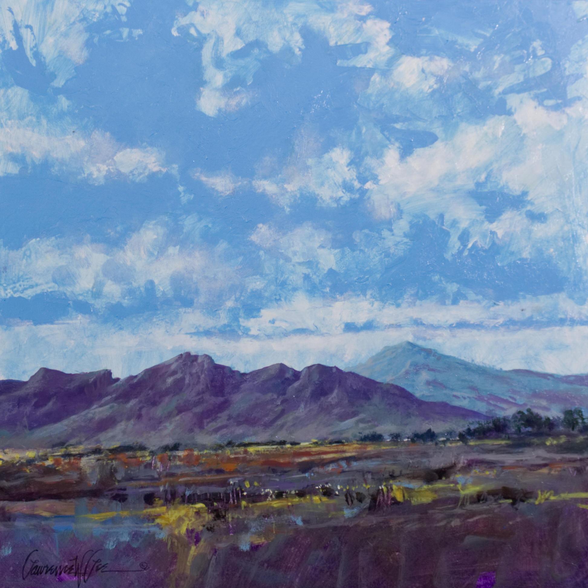 """Valley Bloom"" 16"" x 16"" Acrylic on panel."