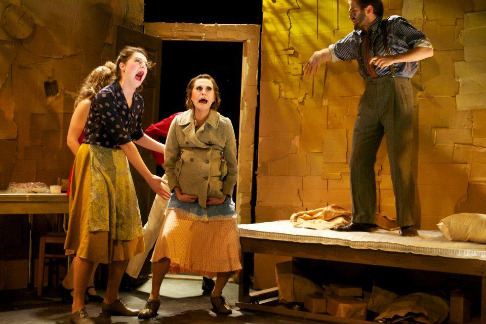 """We Won't Pay, We Won't Pay"" as Margherita (center)"