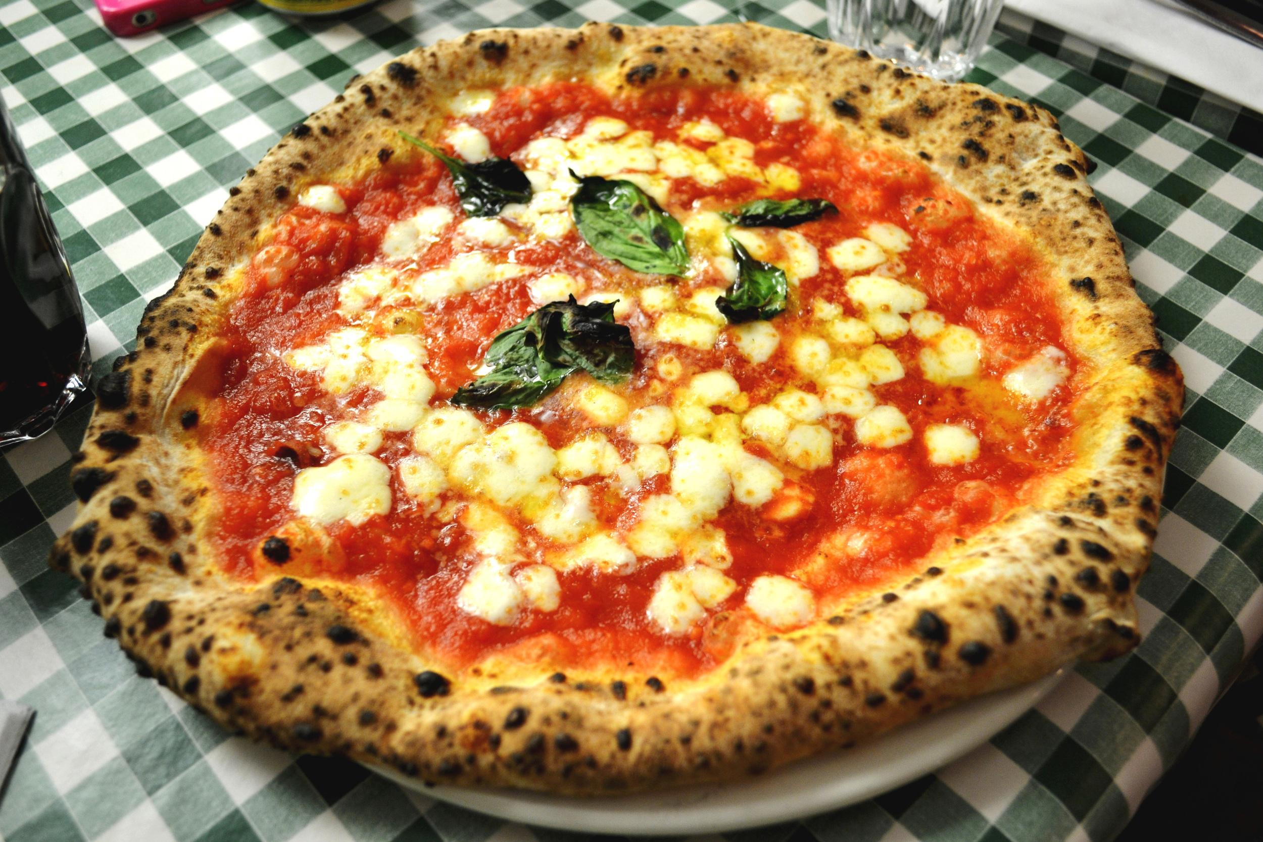 Margherita pizza from Pizza Pilgrims