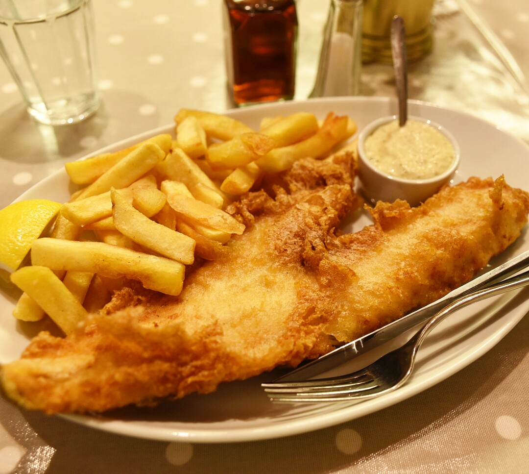 cod and chips at Fisher's in Fulham