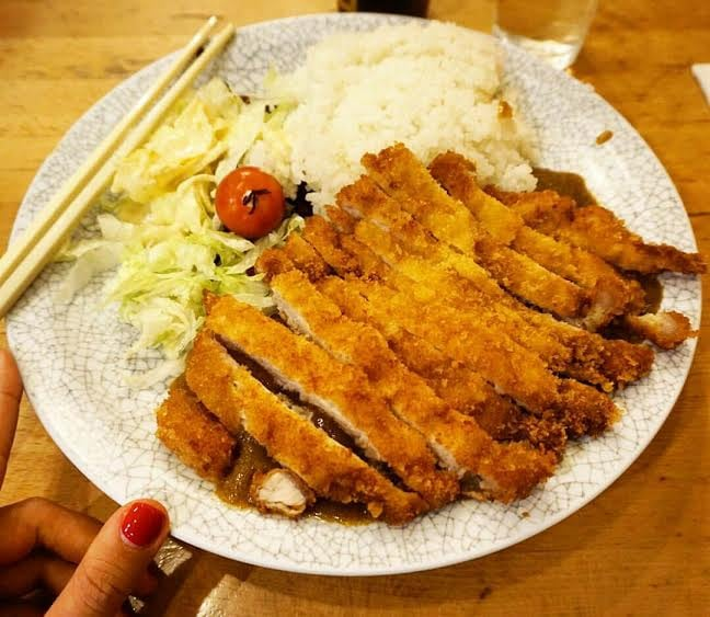 pork katsu curry and rice, Chinatown - £6