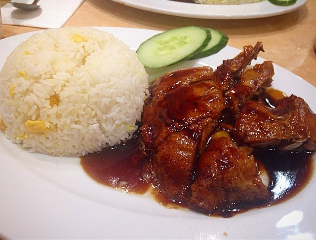 roast duck and fried rice at Chop Chop