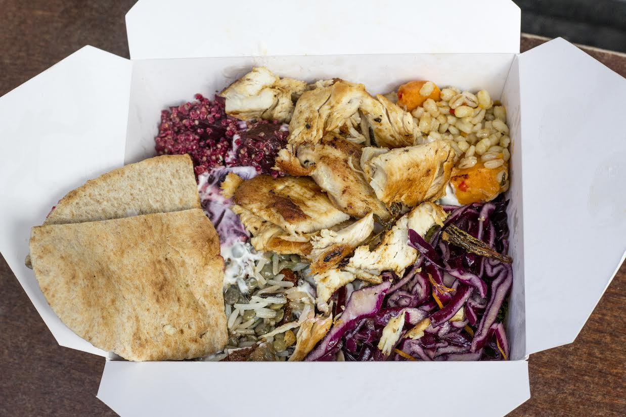 roast chicken and halloumi salad from Savage Salads