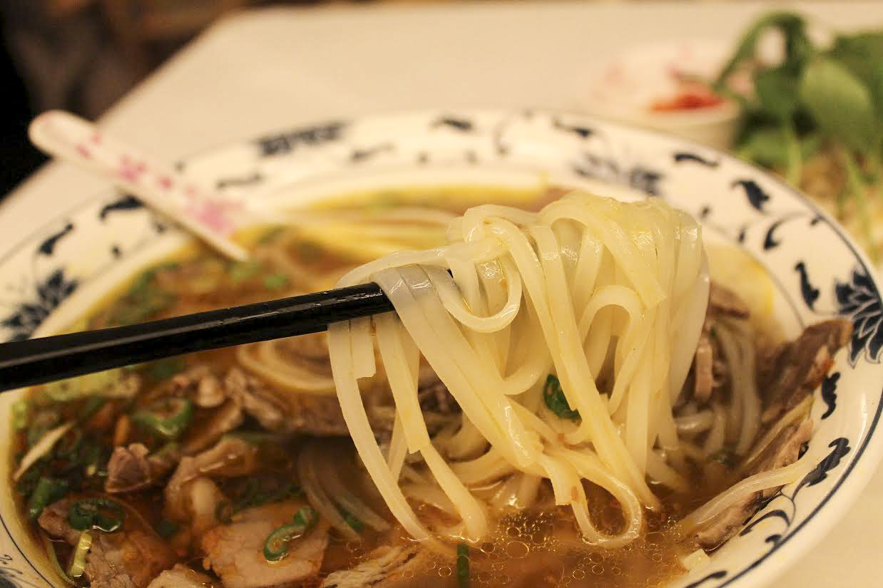 beef pho from Cafe East