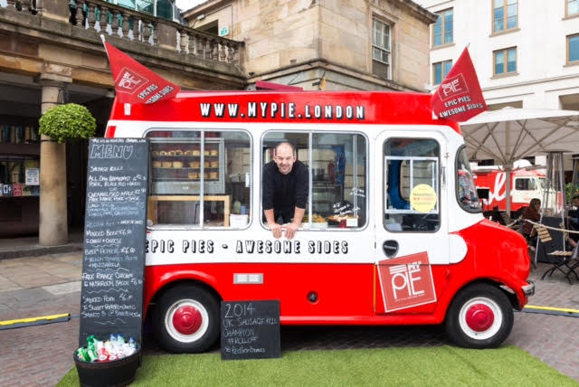 Chris Brumby with the nifty MYPIE truck