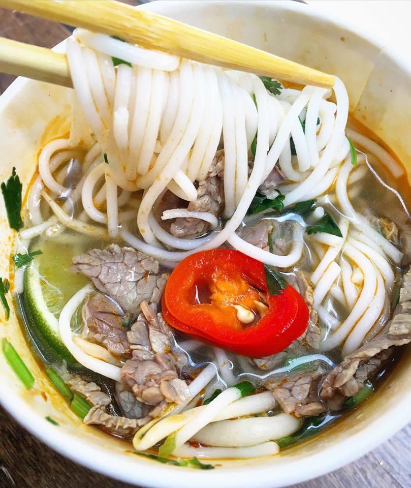 beef bun hue noodles from City Caphe