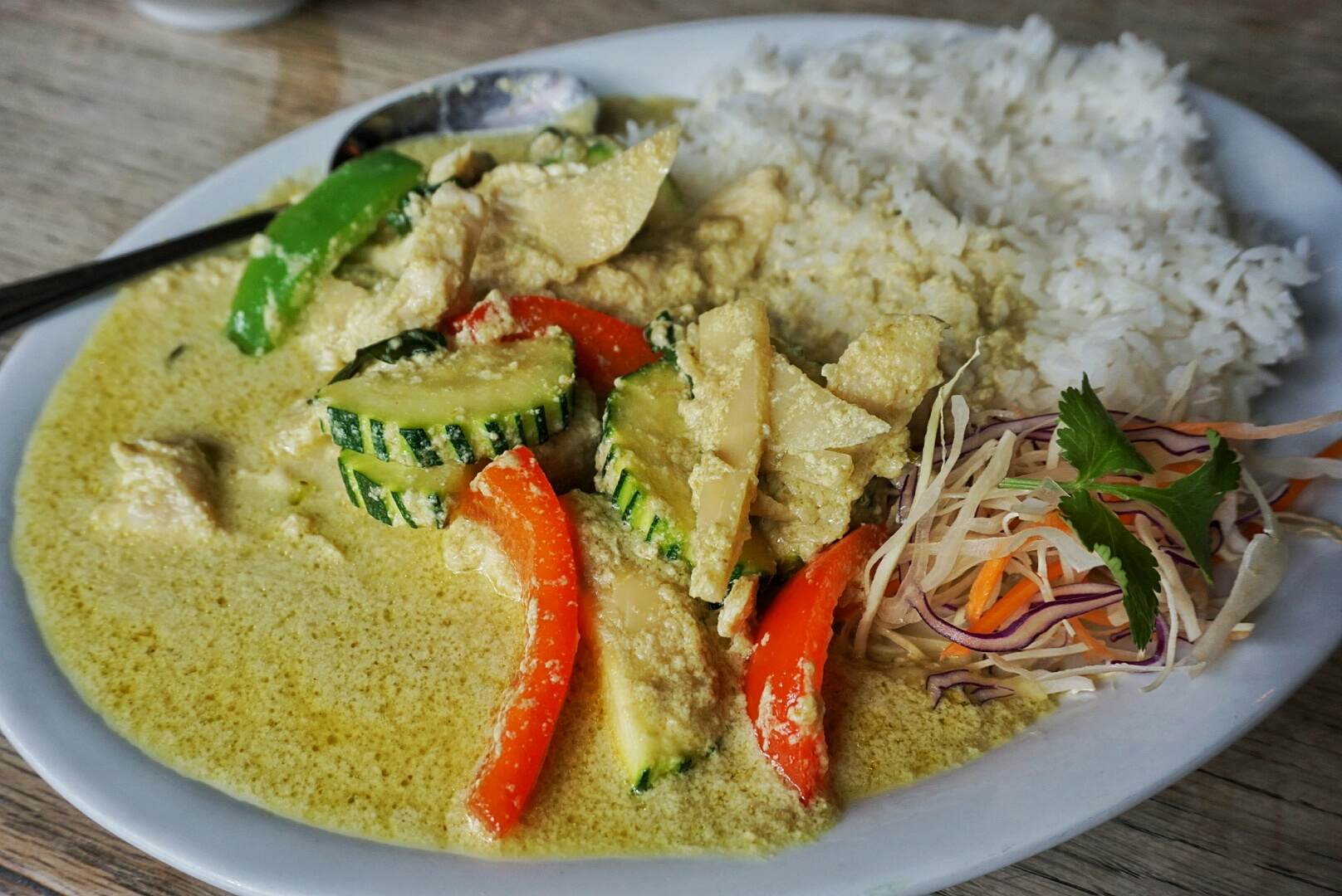 Thai green curry at The Windmill