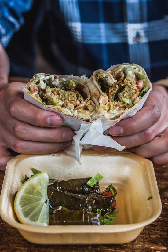 falafel wrap from Falafel & Shawarma, Camberwell