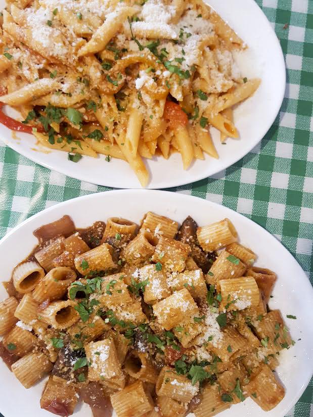 arrabiata (top) and Sicilliana (bottom) from Lamezia in Holloway