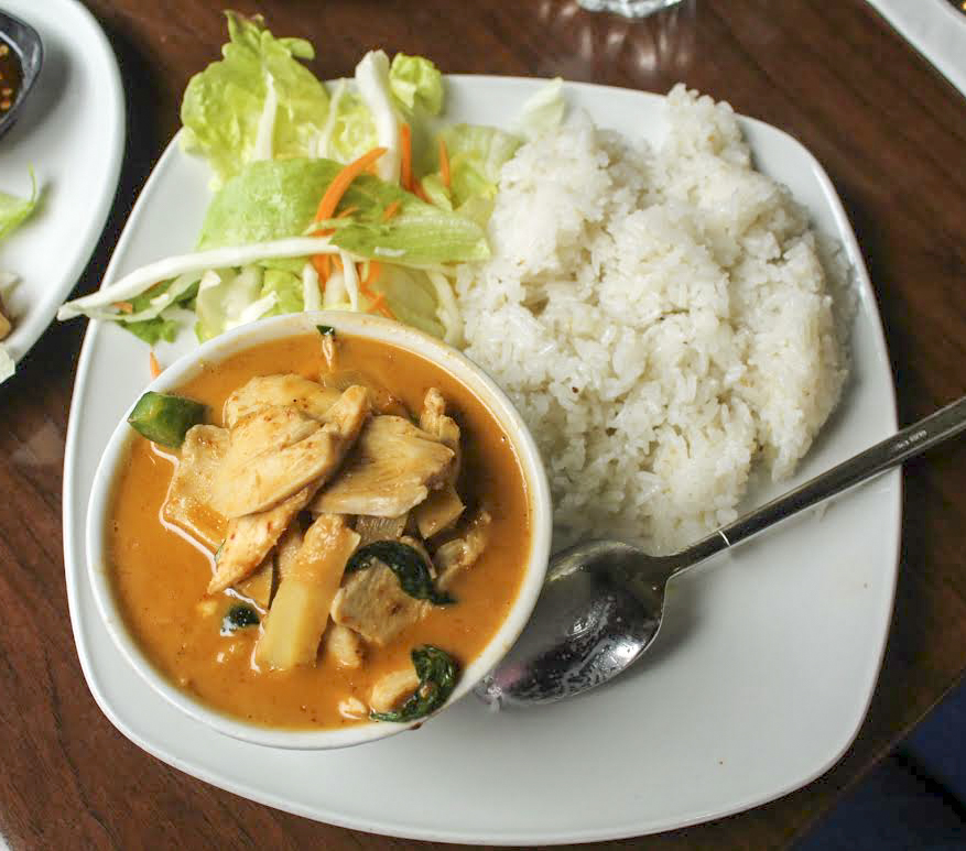 Thai red chicken curry from Thai Metro
