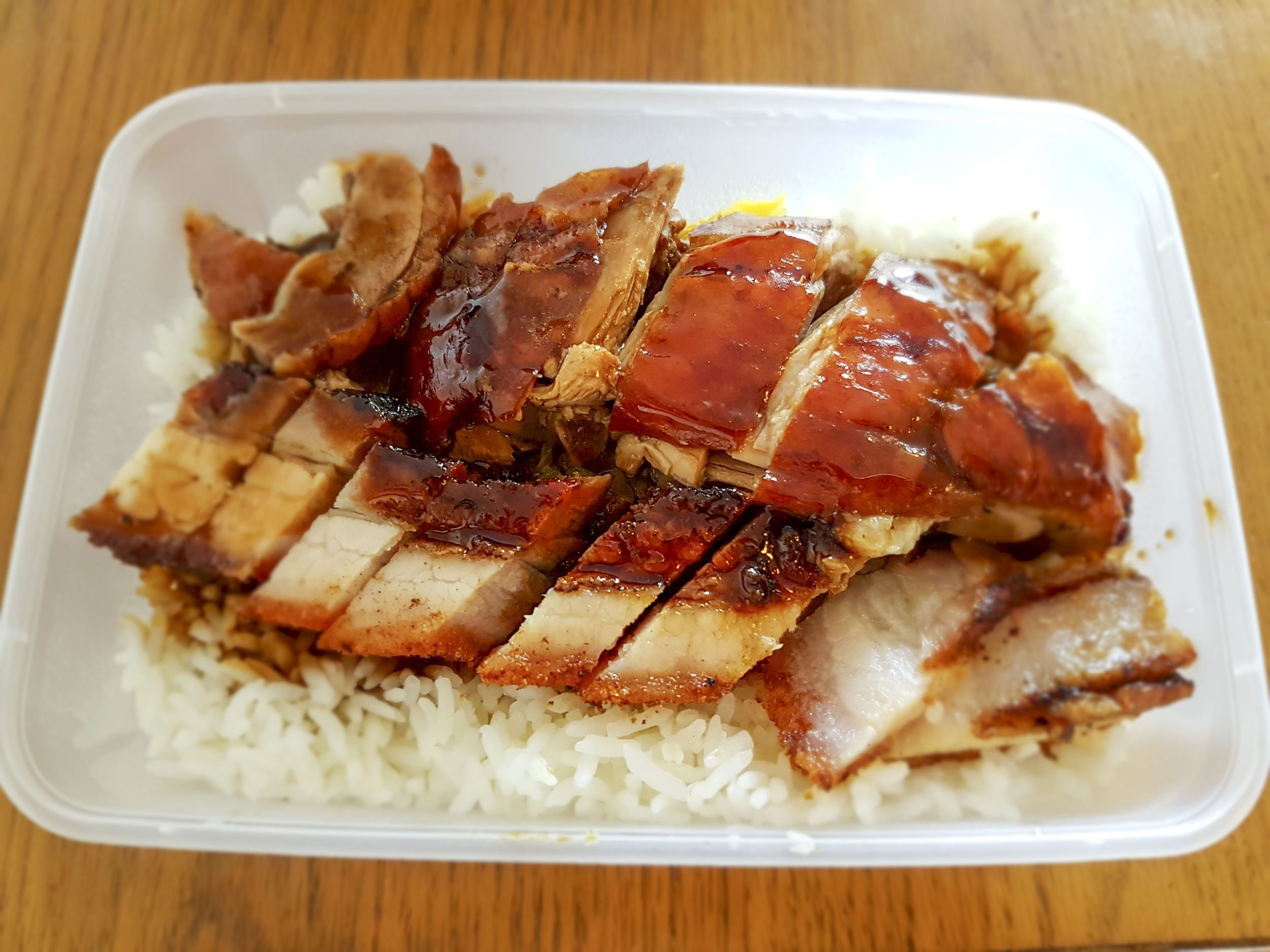mixed roast meats with rice, Cafe TPT in Chinatown