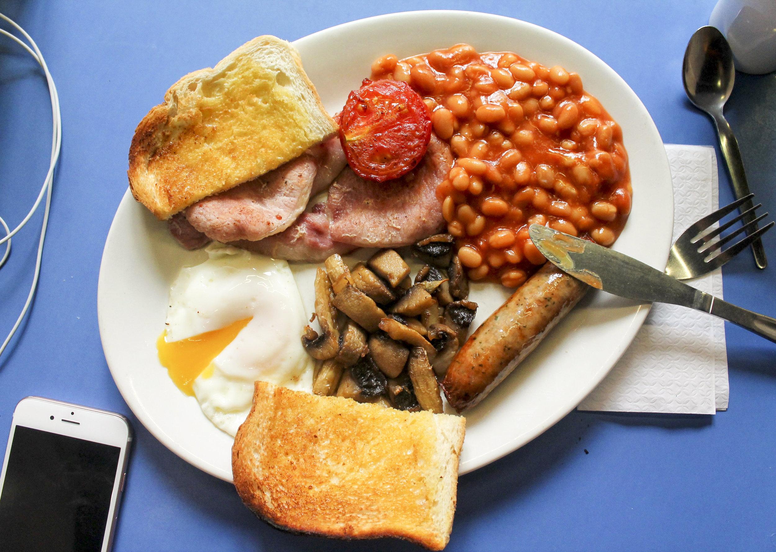 Full English breakfast at The Gammon Rasher