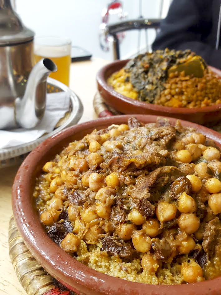 beef tagine and vegetarian tagine, Le Rif in Finsbury Park