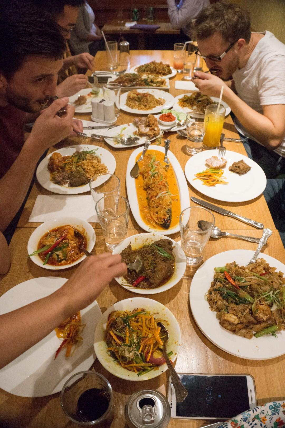 team London Cheap Eats tucking into Tuk Din