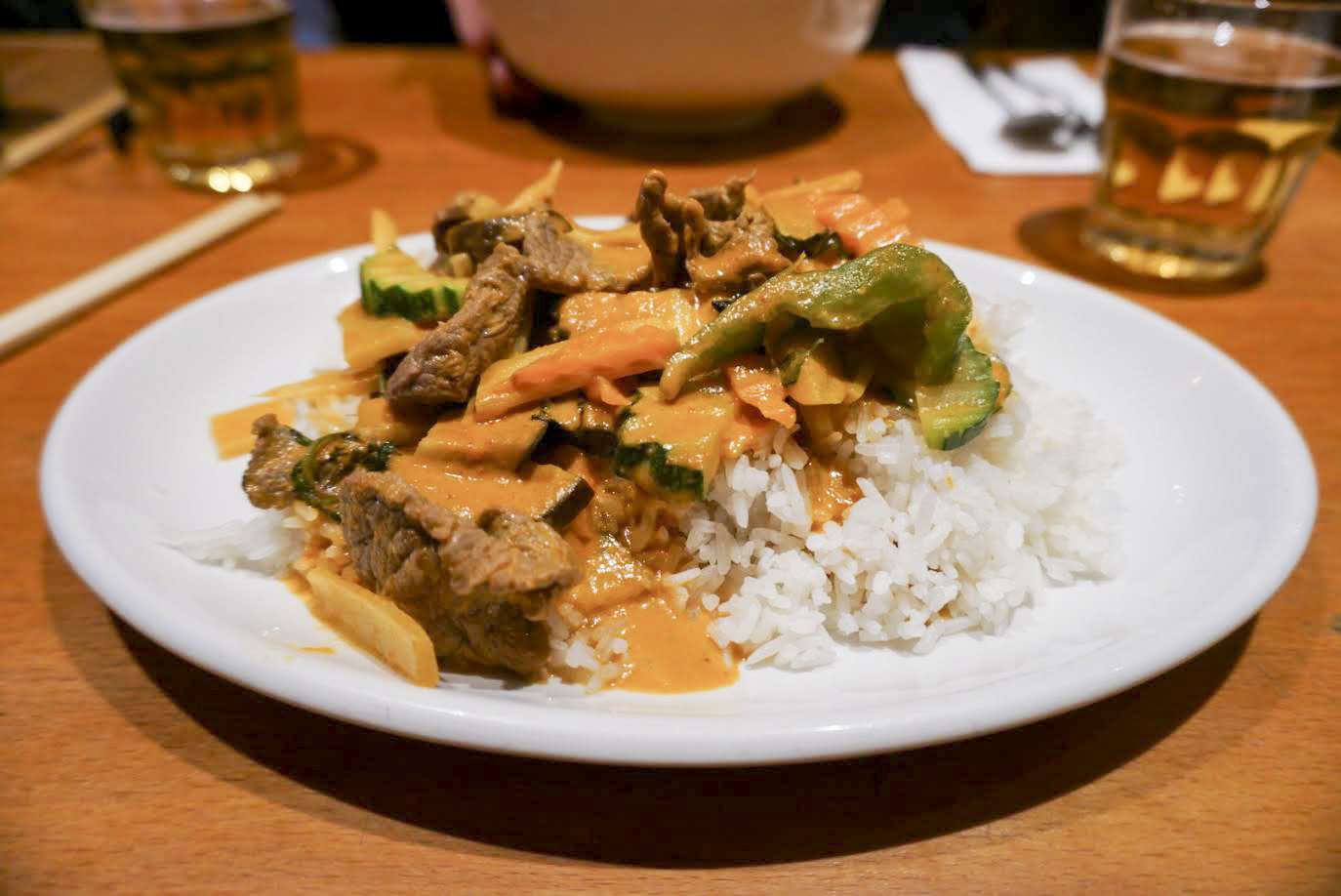 Thai red curry, Paolina in King's Cross