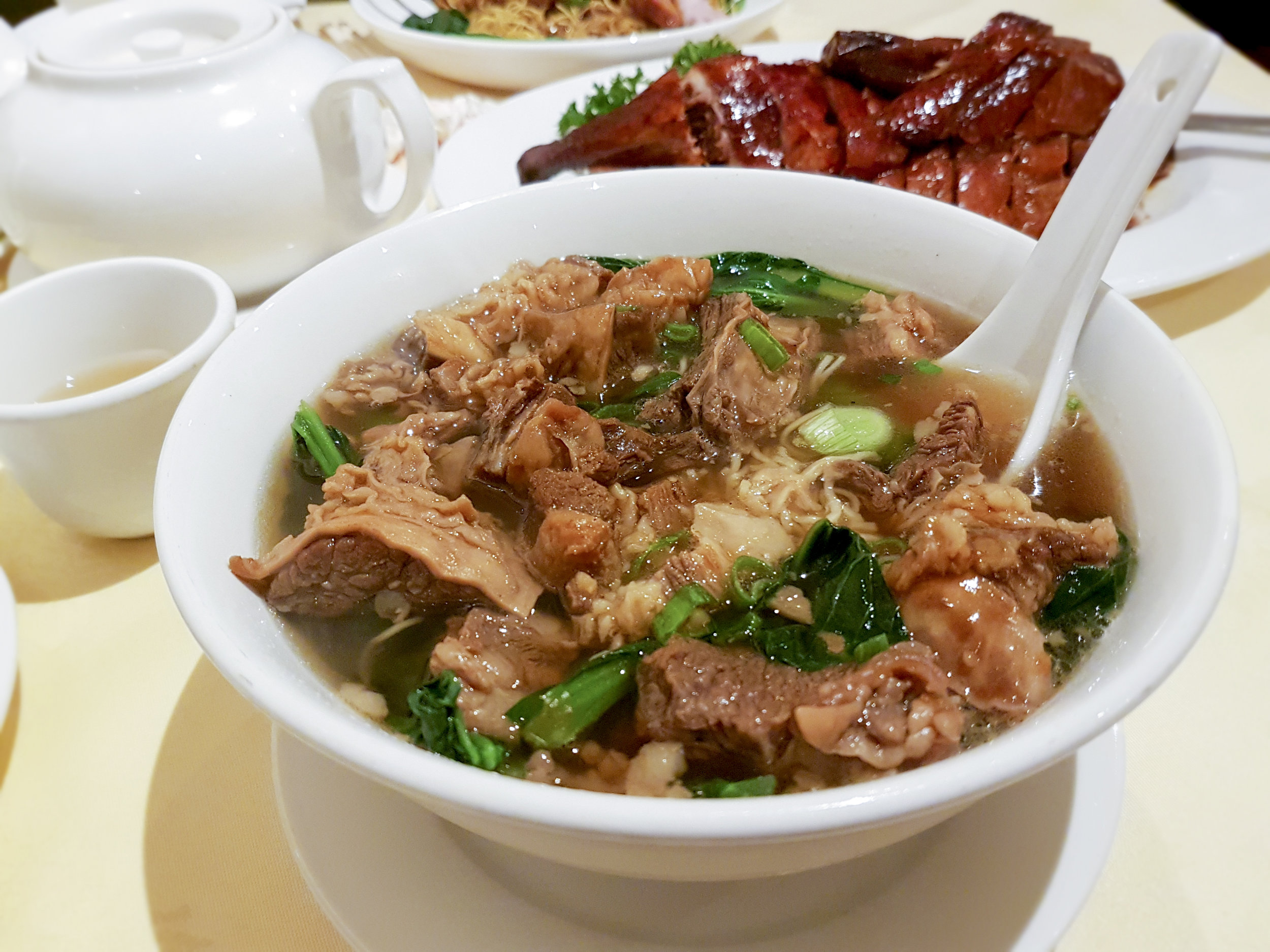 beef brisket noodle soup from Joy King Lau, Chinatown
