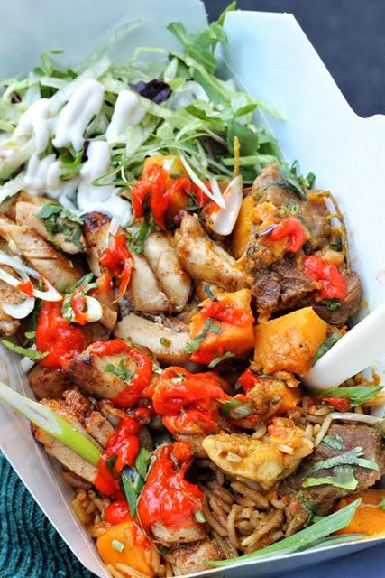 Trinidadian BBQ chicken pelau rice from Soul Food, Borough Market