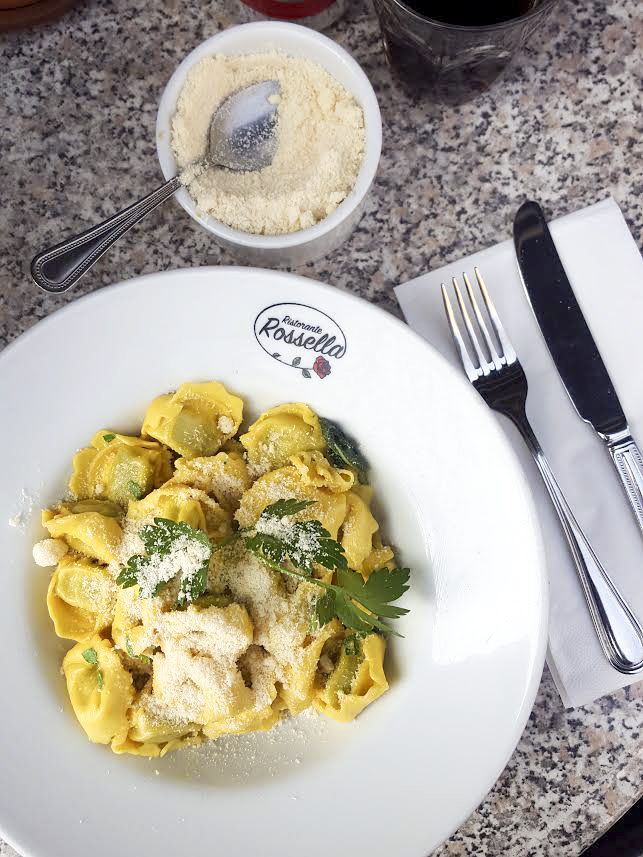 spinach tortellini in sage butter from Rossella, Kentish Town