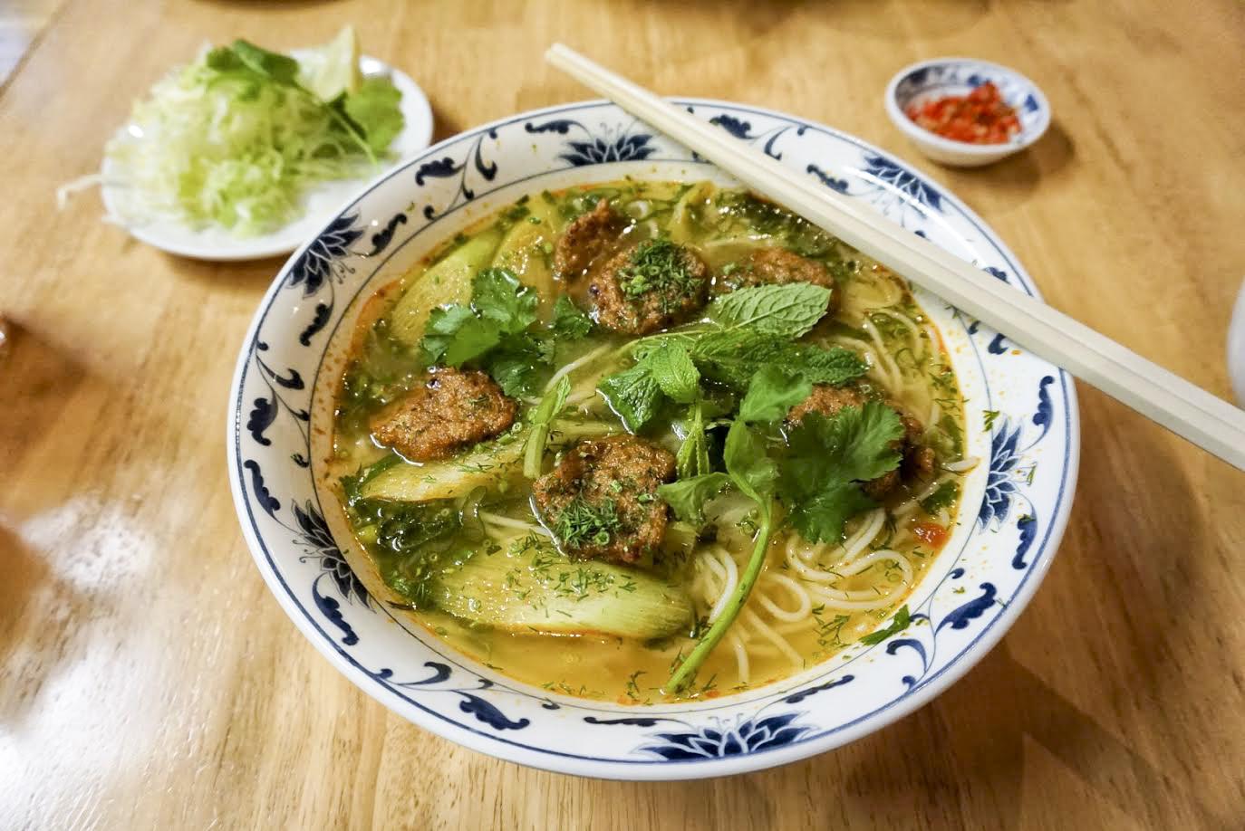 fishcake vermicelli soup, PHO Hanoi in Deptford