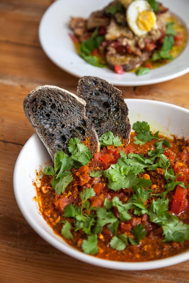 red lentil daal with dukkah and charcoal sourdough, Craving Coffee in Seven Sisters