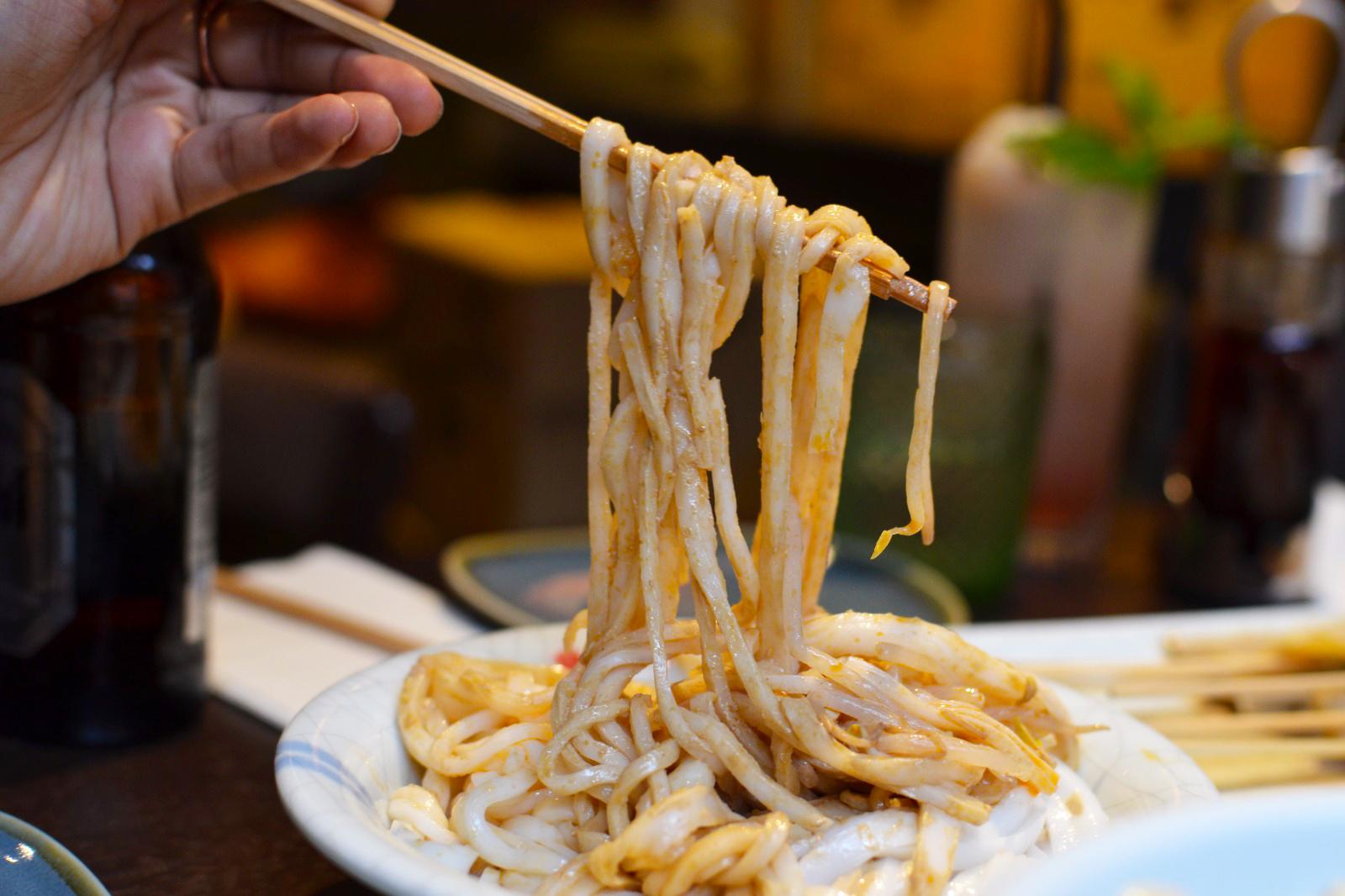 cold rice noodles with sesame sauce at Murger Hanhan