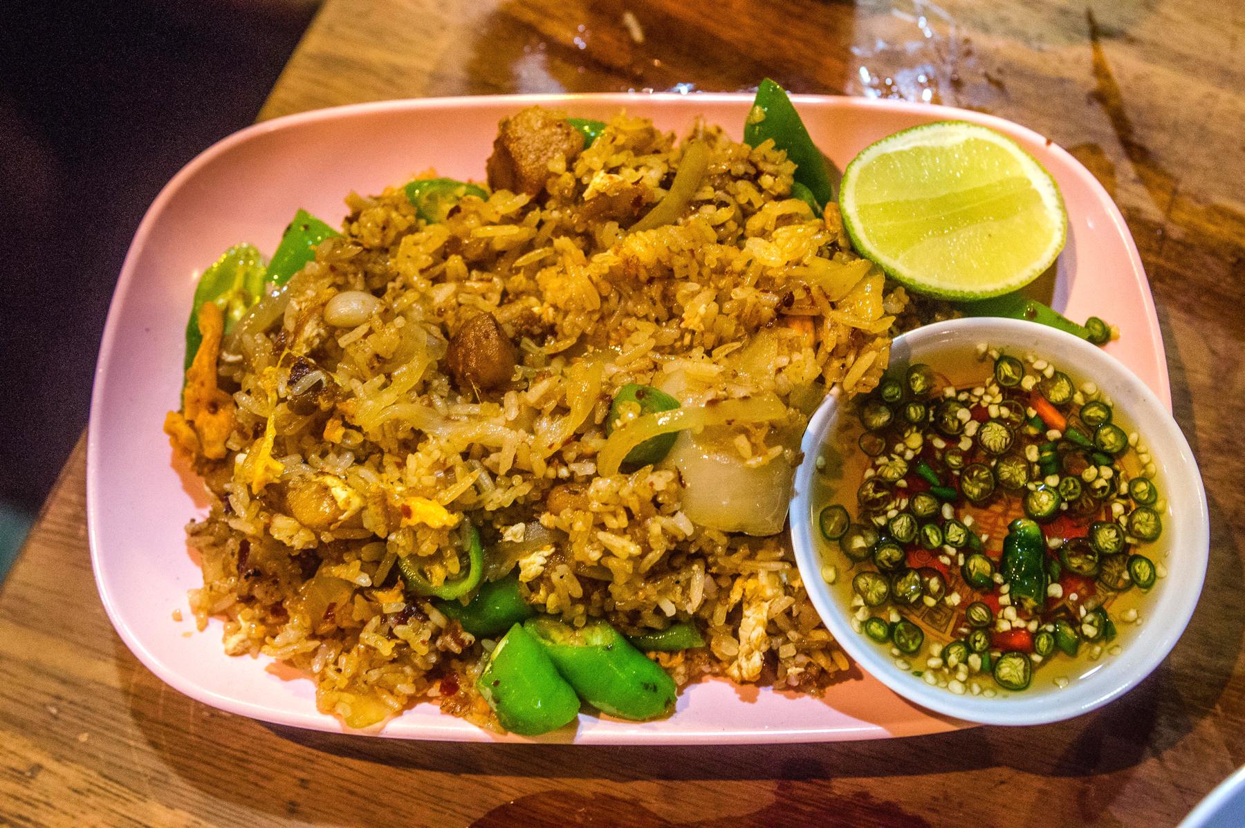 lardo rice at Smoking Goat