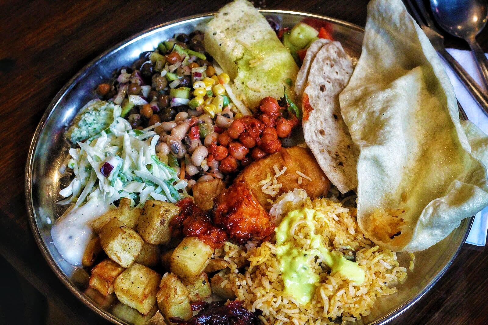 vegetarian indian buffet at Diwana Bhel Poori House