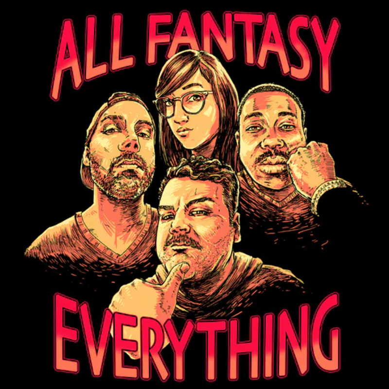 "50 Best Podcast Episodes, IndieWire - Of all the comedy podcasts on this list, ""All Fantasy Everything"" is the one that's the hardest to pick a single episode. Even if you haven't thought of who you'd want in your corner if you got into a fight or what you'd do with a billion dollars or the words that you think make you sound smart, you can count on Ian Karmel and Co. to offer up a classic. So instead of picking an episode with an abstract topic or one of the dependable music-related classics (""Band Names,"" ""Karaoke Jams,"" or ""TV Theme Songs"" either), we're throwing kosh right into the wind and picking a simple classic. It's just Karmel, Sean Jordan, and David Gborie assembling the ideal sandwich. Nothing fancy, but it's one of the most naturally funny trios in the business doing what they do best. — Steve Greene"