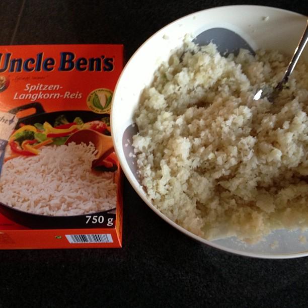 Cauliflower rice vs normal white rice