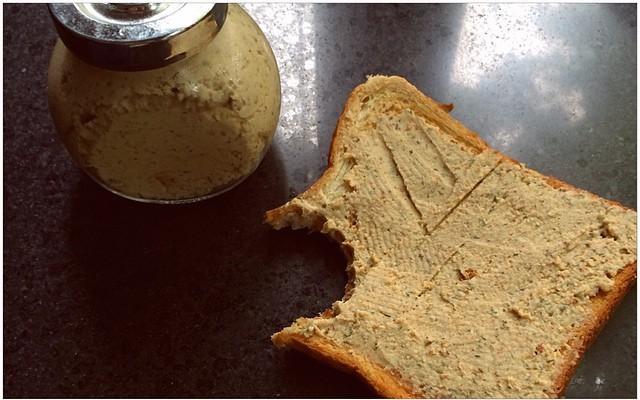 Looks likeover pâté, tastes likeover pâté..But ceci n'est pas Leberwurst ;)