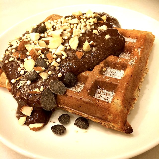 waffles with nuts