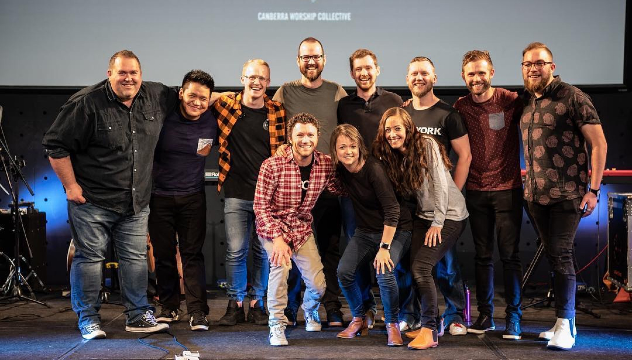 Some of the Canberra Worship Collective collaborators at the November 2018 launch of 'Side by Side'.
