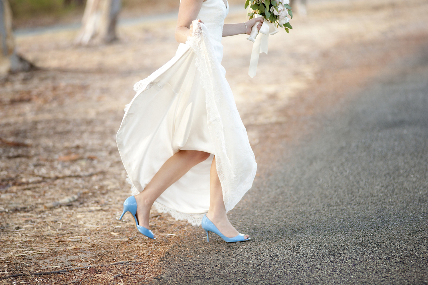 bride with blue shoes perth wedding