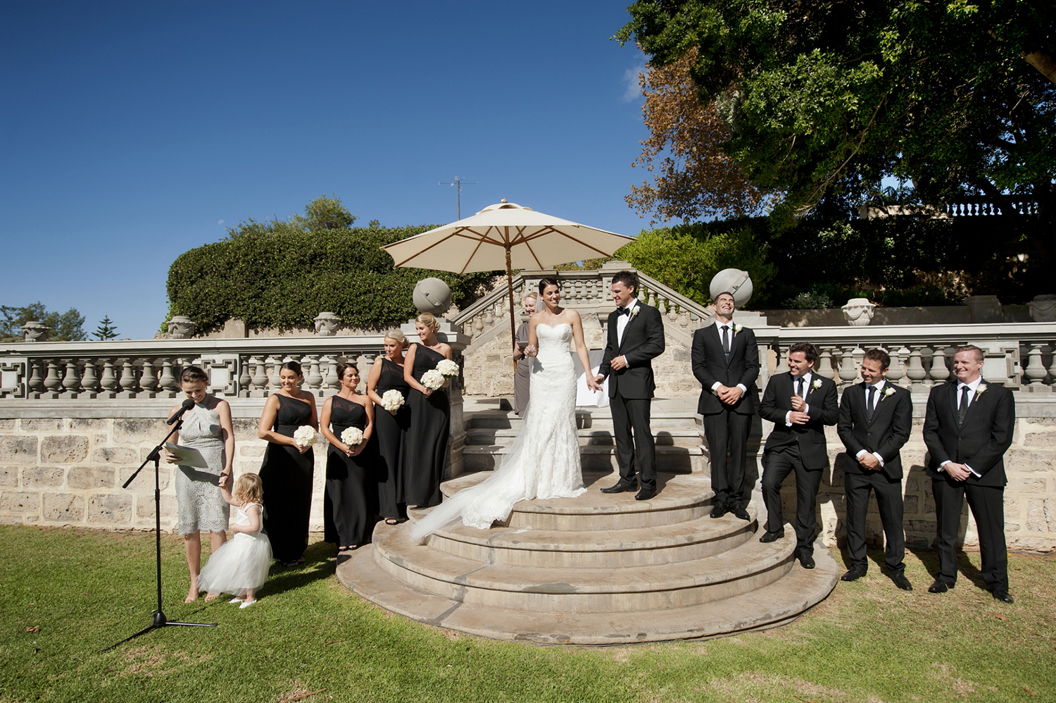 wedding on main lawn at cottesloe civic centre