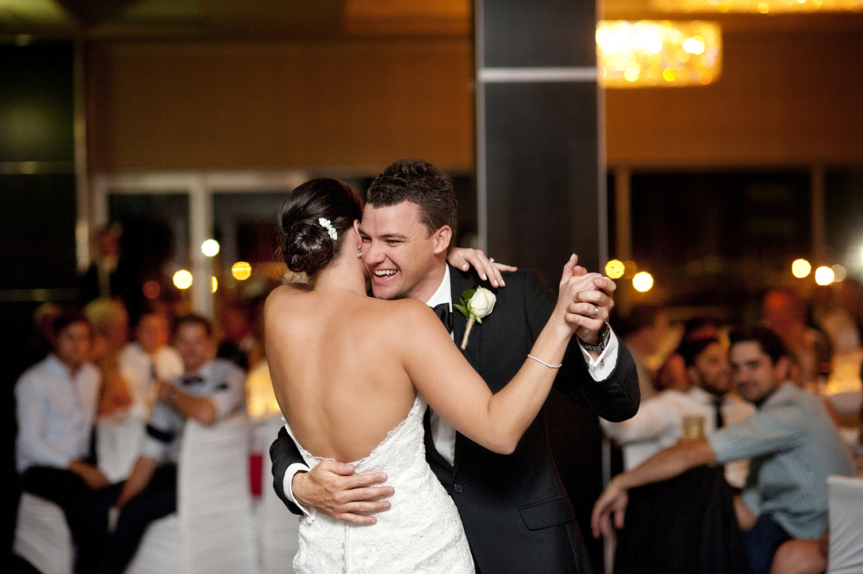 bride and groom first dance in akoya suite breakwater perth wedding