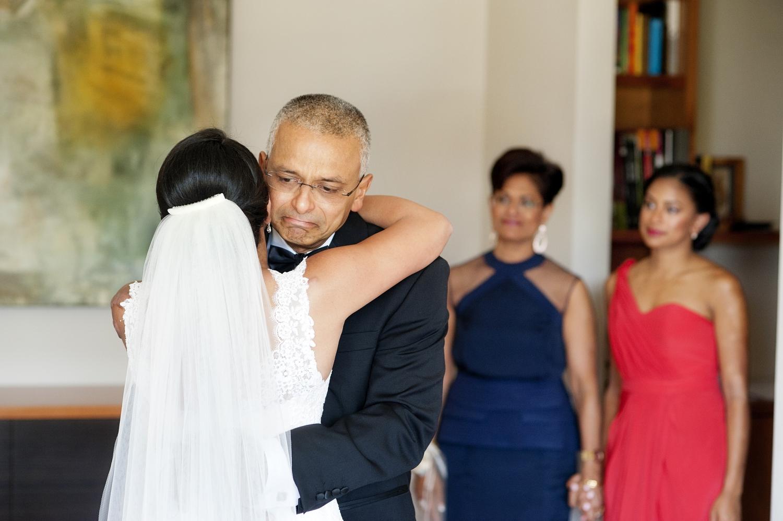 dad hugging bride perth wedding photography