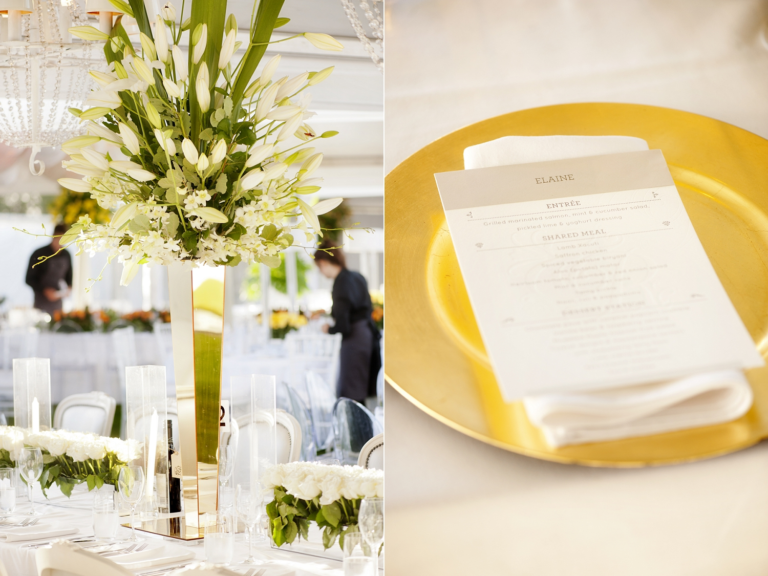 gold charger plate perth wedding