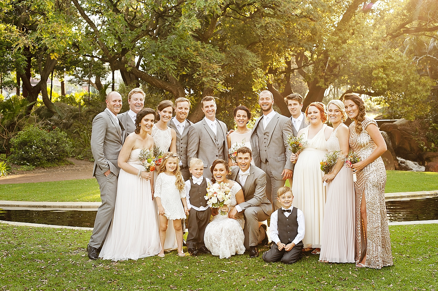 68 eclectic bridal party mixed peach and gold bridesmaids perth wedding 081.jpg