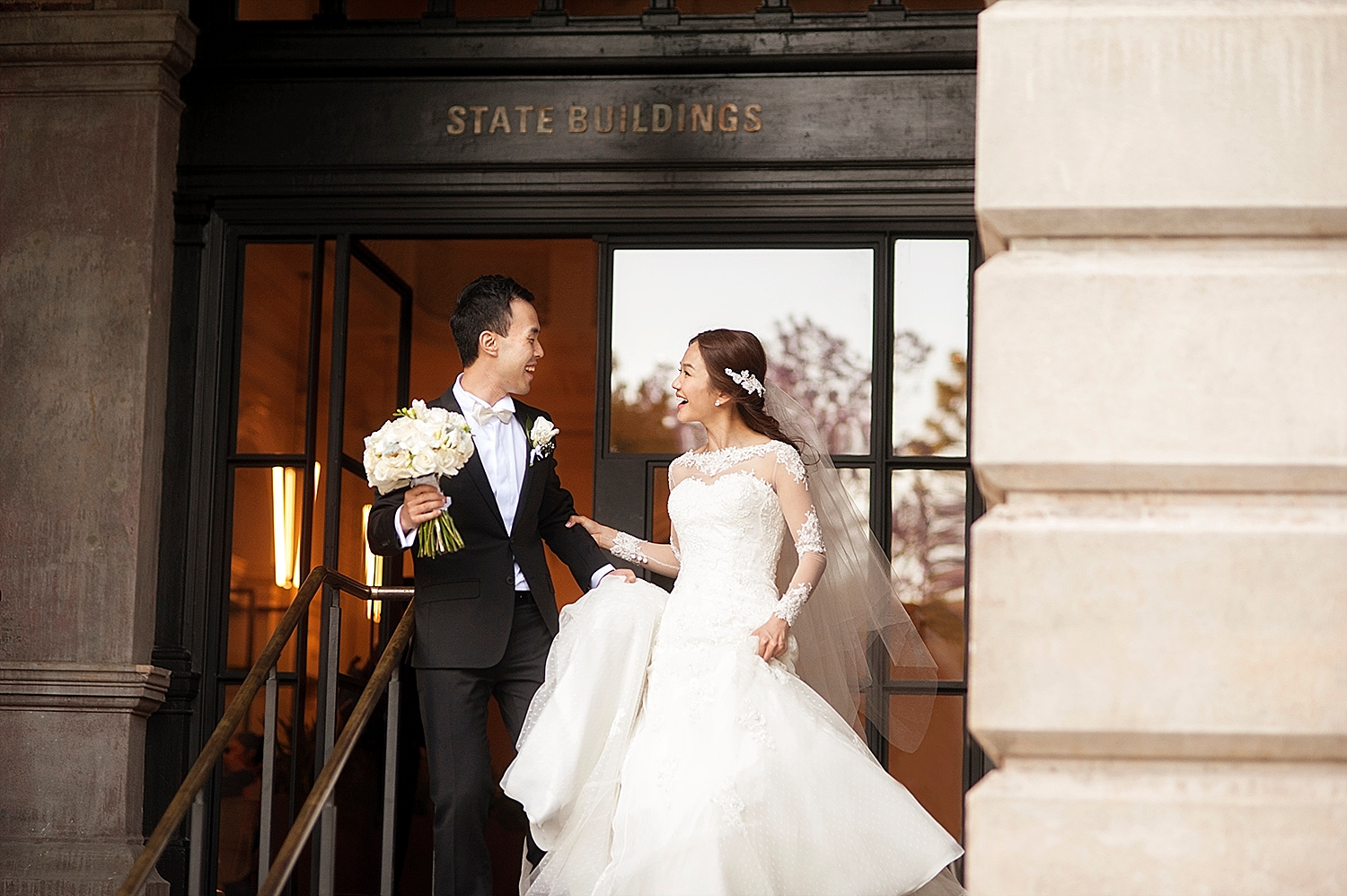 wedding photos in state buildings perth