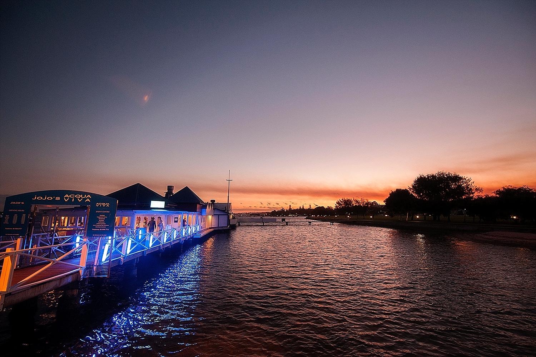 acqua viva on swan river at night perth wedding