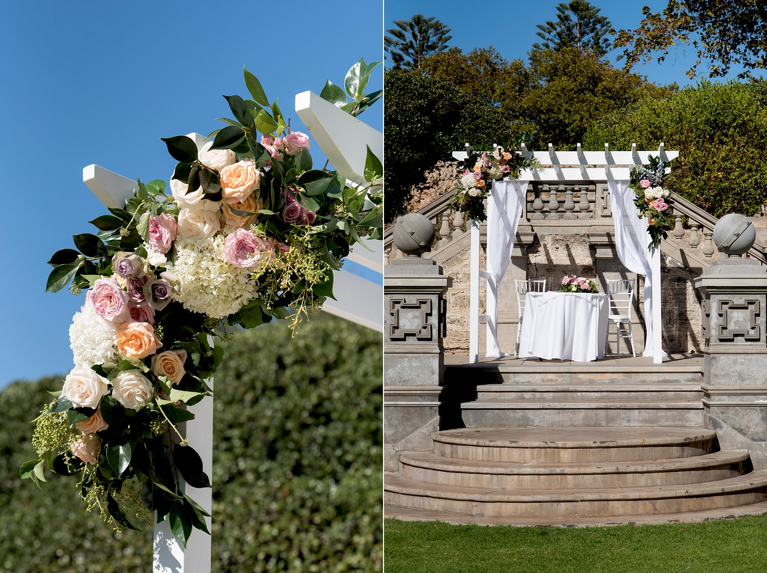 20_cottesloe civic centre wedding perth with ceremony on main lawn steps.jpg