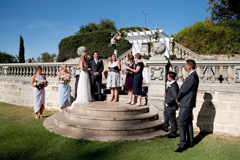 27_cottesloe civic centre wedding ceremony on main lawn perth.jpg