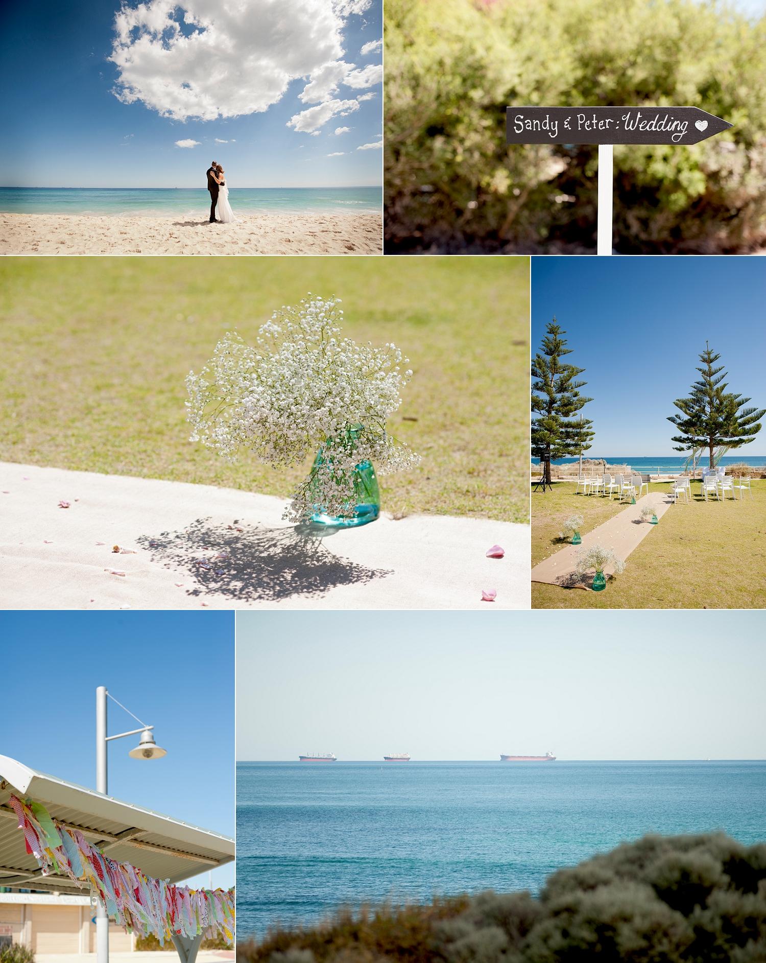 Swanbourne beach wedding ceremony Perth