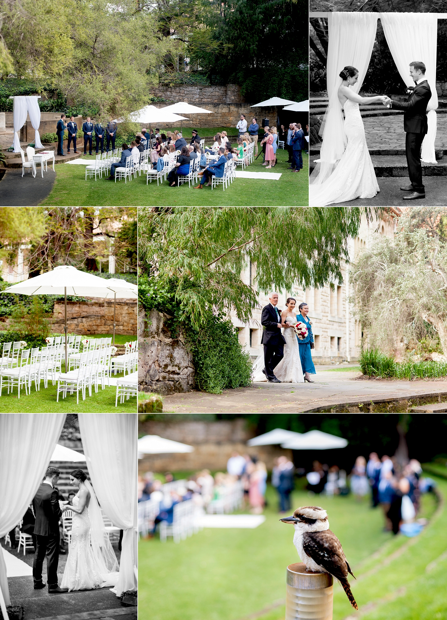 sunken gardens wedding ceremony uwa perth
