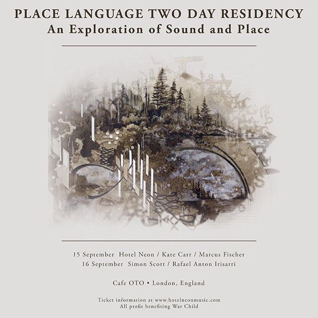 Super happy to have an exclusive track featured on 'Place Language', a non-profit compilation project curated by @andrewtasselmyer / @hotelneonmusic, featuring the work of 28 different sound-artists, field recordists, and musicians from around the globe. In London now to attend the 2-day residency celebrating the release at legendary @cafeotodalston. Beautiful art by @gregory_euclide
