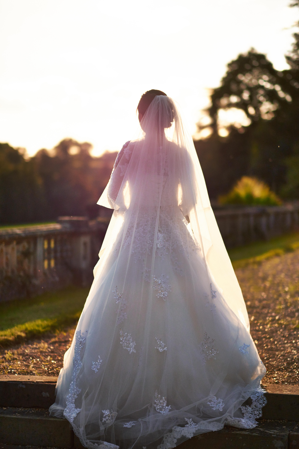 Backlit Bride