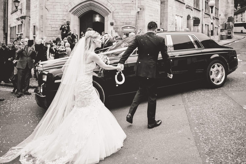 Bride and groom Bradford on avon