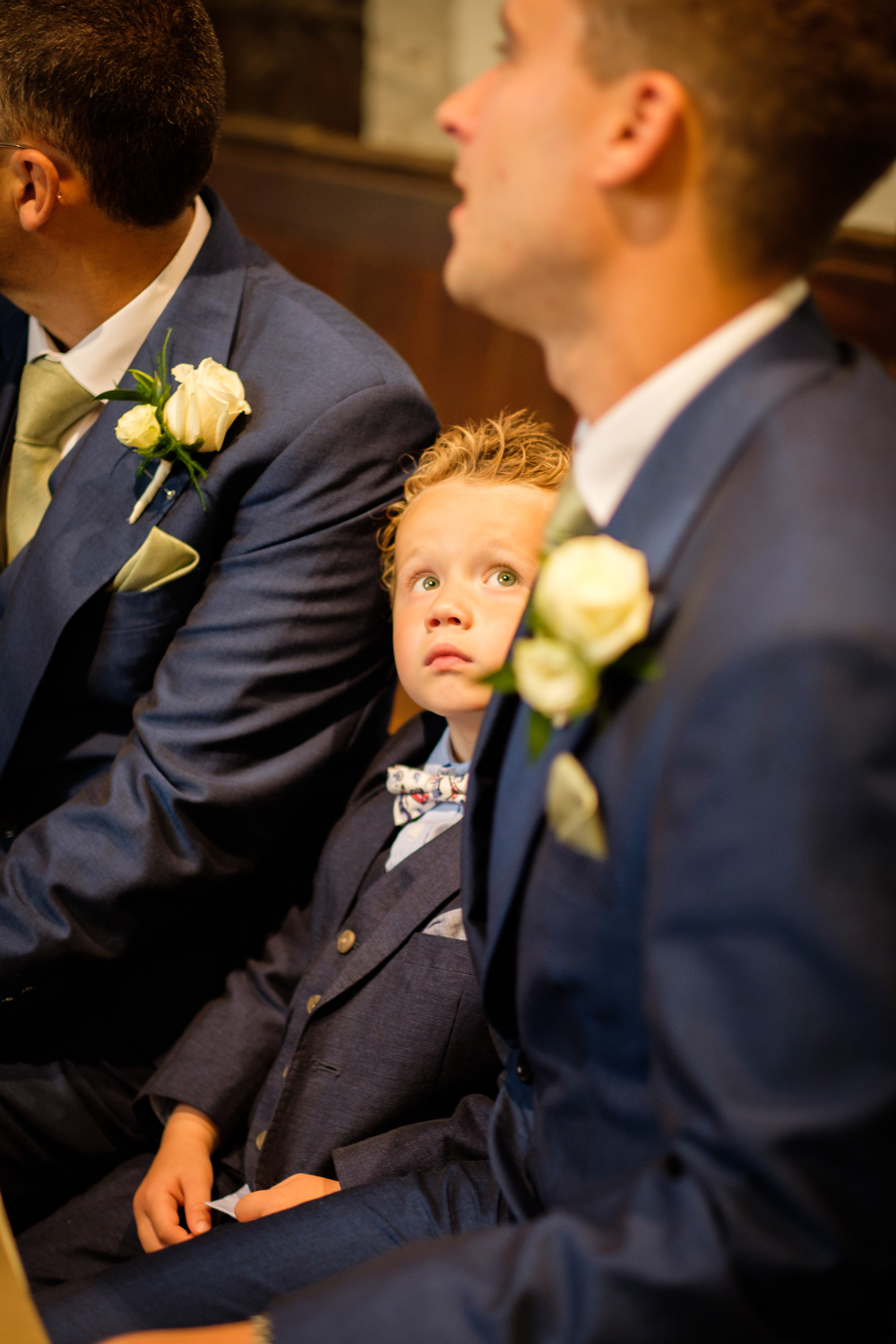 Little boy looking at Dad