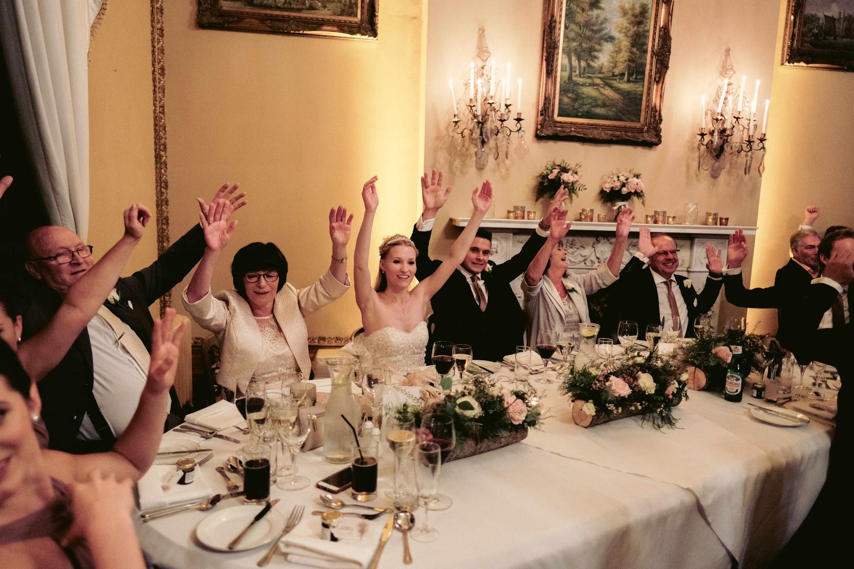 wedding breakfast and speeches