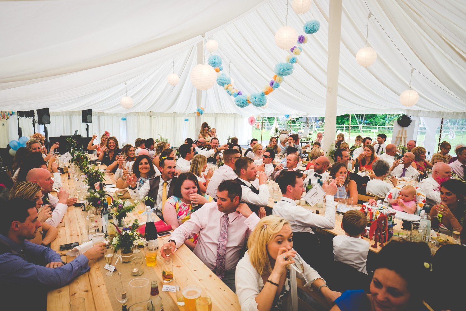 Marquee and guests